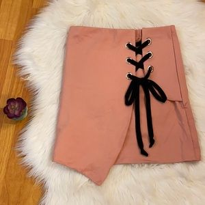 Fashion Nova Skirt with Black Lace up size M